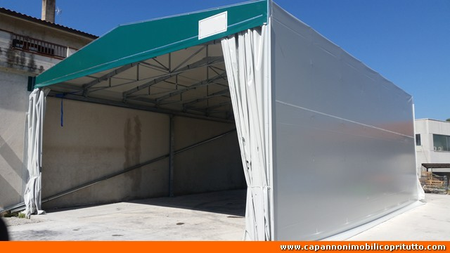 Copritutto capannoni mobili in telo pvc for Capannoni in legno prezzi